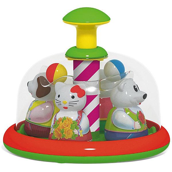 Юла-карусель Stellar АттракционЮлы, неваляшки<br>Характеристики:<br><br>• возраст: от 6 месяцев;<br>• материал: полистирол;<br>• размеры: 20х20х24 см;<br>• вес: 0,58 кг.<br><br>Юла-карусель «Аттракцион» - это развивающая игрушка для самых маленьких. Она напоминает детский аттракцион в парке с катающимися на нем зверушками. <br><br>Малыш сможет запускать юлу и влиять на скорость вращения карусели, нажимая на большую кнопку сверху. После запуска зверушки в ярких костюмах начинают вращаться, привлекая внимание малыша. <br><br>Под куполом юлы на прозрачной площадке находятся разноцветные шарики, которые при движении выкатываются к стенке купола, а при остановке возвращаются на свои места.<br><br>Цветовое решение игрушки полностью отвечает особенностям младенческого восприятия.<br><br>Юлу-карусель «Аттракцион», Stellar можно приобрести в нашем интернет-магазине.<br>Ширина мм: 200; Глубина мм: 200; Высота мм: 240; Вес г: 580; Возраст от месяцев: 72; Возраст до месяцев: 2147483647; Пол: Унисекс; Возраст: Детский; SKU: 7925571;