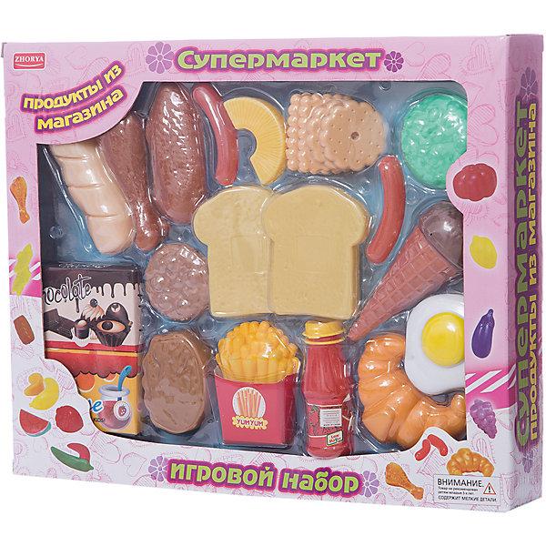 Zhorya Игровой набор Zhorya Супермаркет, Продукты к завтраку zhorya игровой набор миксер
