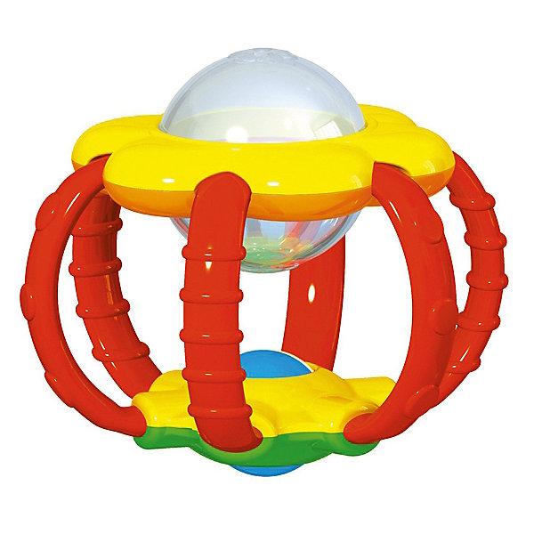 Погремушка-прорезыватель Stellar БутончикИгрушки для новорожденных<br>Характеристики:<br><br>• возраст: 0+;<br>• материал: полистирол, ТЭП;<br>• размеры: 12,5х10х18 см;<br>• вес: 70 г.<br><br>Погремушка-прорезыватель «Бутончик» - веселая игрушка для малышей. Также она пригодится в период прорезывания зубов. Приятная рельефная поверхность прорезывателя нежно массирует десны, устраняя зуд и неприятные ощущения.<br><br>Форма, размеры и вес игрушки идеальны для захвата маленькими ручками. Ребенку будет удобно держать погремушку, крутить, переносить с места на место, как это любят делать маленькие непоседы. <br><br>Погремушка выполнена в форме яркого бутончика, внутри которого находятся божьи коровки. С первого взгляда они не очень приметны, но покрутив погремушку и исследовав её со всех сторон, малыш сможет обнаружить насекомых.<br><br>В верхней части погремушки красивый и разноцветный цветочек, с одной стороны которого находятся разноцветные шарики и зеркальце, а с другой - яркая картинка и шарики. Верхняя и нижняя часть соединены мягкими прорезывателями с разной текстурой. <br><br>В нижней части погремушки находится разноцветный шарик, который можно крутить. <br><br>Погремушка-прорезыватель изготовлена из абсолютно безопасных материалов, легко моется и дезинфицируется.<br><br>Погремушку - прорезыватель «Бутончик», Stellar можно приобрести в нашем интернет-магазине.<br>Ширина мм: 125; Глубина мм: 100; Высота мм: 180; Вес г: 70; Возраст от месяцев: 36; Возраст до месяцев: 2147483647; Пол: Унисекс; Возраст: Детский; SKU: 7925585;