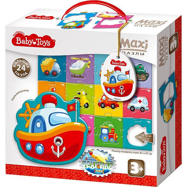 Baby Toys Макси пазлы Baby Toys Техника, 24 элемента на поле 61х47см baby toys макси пазлы baby toys зигзаг домашние животные 18 элементов