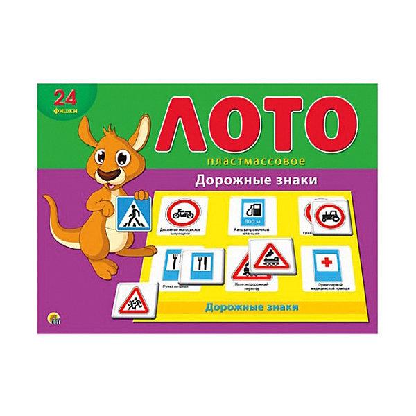 Настольная игра Рыжий кот Лото Дорожные знаки, в коробкеОбучающие игры<br>Характеристики: <br><br>• возраст: от 3 лет;<br>• материал: пластик, картон;<br>• количество игроков: 2-4;<br>• в наборе: 4 карточки, 24 фишки;<br>• вес упаковки: 310 гр.;<br>• размер упаковки: 29,5х21,5х40 см;<br>• страна бренда: Россия.<br><br>Детское лото от бренда «Рыжий кот» содержит цветные яркие карточки с изображением дорожных знаков. Принцип игры строится на правилах классического лото. Играя, малыш изучает новые слова, учится распознавать знаки в городе. Развивается логическое мышление и внимательность.<br><br>Лото пластиковое 24 фишки «Дорожные знаки» можно купить в нашем интернет-магазине.<br>Ширина мм: 295; Глубина мм: 215; Высота мм: 400; Вес г: 310; Возраст от месяцев: 36; Возраст до месяцев: 2147483647; Пол: Унисекс; Возраст: Детский; SKU: 7926651;