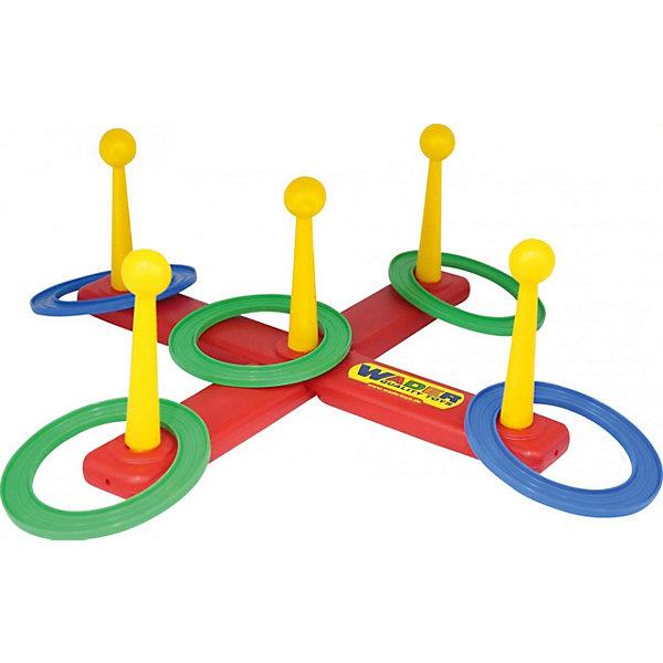 Игра Полесье Набрось кольцоКольцебросы и боулинг<br>Характеристики:<br><br>• тип игрушки: игра;<br>• возраст: от 3 лет;<br>• цвет: красный, желтый, синий, зеленый;<br>• комплектация: игровая стойка, 5 колец;<br>• вес: 450 гр;<br>• размер: 45х14,5х11,5 см;<br>• страна бренда: Беларусь;<br>• бренд: Полесье.<br><br>Игра «Набрось кольцо» Полесье - увлекательная игра для самых ловких, метких и находчивых. Цель игры: набросить кольцо на один из столбиков. Отлично подойдет для помещения и улицы. Можно играть с друзьями и родителями.<br><br>Игру «Набрось кольцо» Полесье можно купить в нашем интернет-магазине.<br>Ширина мм: 450; Глубина мм: 145; Высота мм: 115; Вес г: 450; Возраст от месяцев: 36; Возраст до месяцев: 2147483647; Пол: Унисекс; Возраст: Детский; SKU: 7927322;