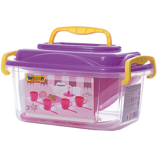 """Полесье Набор игрушечной посуды Полесье """"Алиса"""" 19 предметов на 4 персоны, в контейнере"""