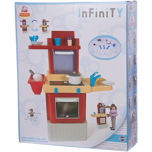 Игрушечная кухня Полесье Infinity Basic №2, в коробкеДетские кухни<br>Характеристики:<br><br>• тип игрушки: набор;<br>• возраст: от 3 лет;<br>• материал: полипропилен;<br>• цвет: бежевый, красный;<br>• вес: 3 кг;<br>• размер: 55,5х16,5х67,5 см;<br>• страна бренда: Беларусь;<br>• бренд:  Полесье.<br><br>Набор «INFINITY basic №2» Полесье позволит малышке ощутить себя в роли настоящего поваренка и сможет приготовить еду для своих кукол.В наборе есть компактная плита с рабочей поверхностью, раковиной, полочками и разнообразной посудой. Приборы изготовлены из прочных материалов, отвечающих всем стандартам качества и безопасности. Сюжетно-ролевые игры с этим комплектом способствуют развитию детского воображения, восприятия и фантазии.<br><br>Набор «INFINITY basic №2» Полесье можно купить в нашем интернет-магазине.<br>Ширина мм: 555; Глубина мм: 165; Высота мм: 675; Вес г: 3635; Возраст от месяцев: 36; Возраст до месяцев: 2147483647; Пол: Женский; Возраст: Детский; SKU: 7927418;