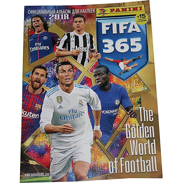 Альбом Panini FIFA 365-2018 + 15 наклеекPanini<br>Характеристики:<br>• возраст: от 6 лет<br>• издательство: Panini<br>• комплектация: альбом; 15 наклеек.<br>• количество страниц в альбоме: 72 (мелованная)<br>• тип обложки: мягкий переплет (крепление скрепкой или клеем)<br>• иллюстрации: цветные<br>• размер: 33,2х24,4х0,4 см.<br>• вес: 284 гр.<br><br>Золотой мир футбола в ежегодном альбоме от Panini.<br>Альбом «PaniniI FIFA 365 – 2018» предназначен для коллекционирования наклеек. На страницах альбома Вы найдете 25 лучших команд планеты по версии FIFA, обзоры и итоги FCC-2017, FIFA U-20 WC Korea 2017, FIFA U-17 &amp; U-20 Womens WC 2016, FIFA Club WC Japan 2016, золотые страницы фаворитов и восходящих звезд.<br>В альбоме представлены разделы: трофеи FIFA, моменты побед, футбольные клубы, портреты игроков в официальной форме, кубок конфедерации, женский футбольный кубок и другие.<br>Альбом состоит из 72 красочно проиллюстрированных страниц с местами для размещения наклеек. В комплект входят 15 стартовых наклеек. Всего в коллекции 602 наклейки. Наклейки продаются отдельно в пакетиках по 5 штук, наклейки перемешаны случайным образом.<br>Альбом Panini FIFA 365-2018 + 15 наклеек можно купить в нашем интернет-магазине.<br>Ширина мм: 332; Глубина мм: 4; Высота мм: 244; Вес г: 284; Возраст от месяцев: 36; Возраст до месяцев: 2147483647; Пол: Мужской; Возраст: Детский; SKU: 7929495;
