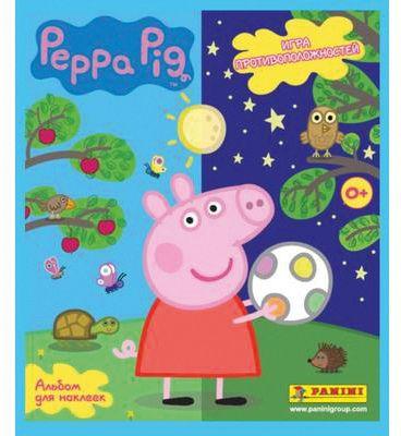 Альбом + набор наклеек Panini  Свинка Пеппа. Игра противоположностей , артикул:7929525 - Свинка Пеппа