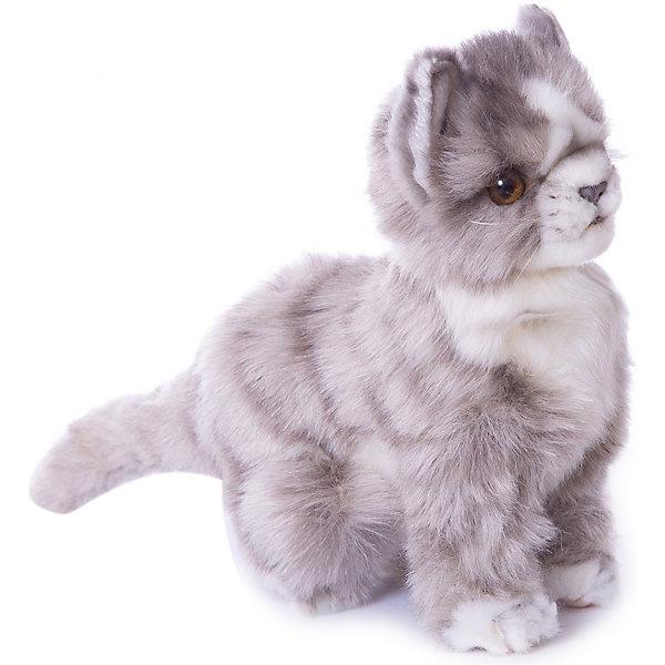 Купить Мягкая игрушка Hansa Котенок серый, 19 см, Филиппины, Унисекс