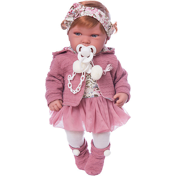 Munecas Antonio Juan Кукла-пупс Саманта в розовом, 40 см