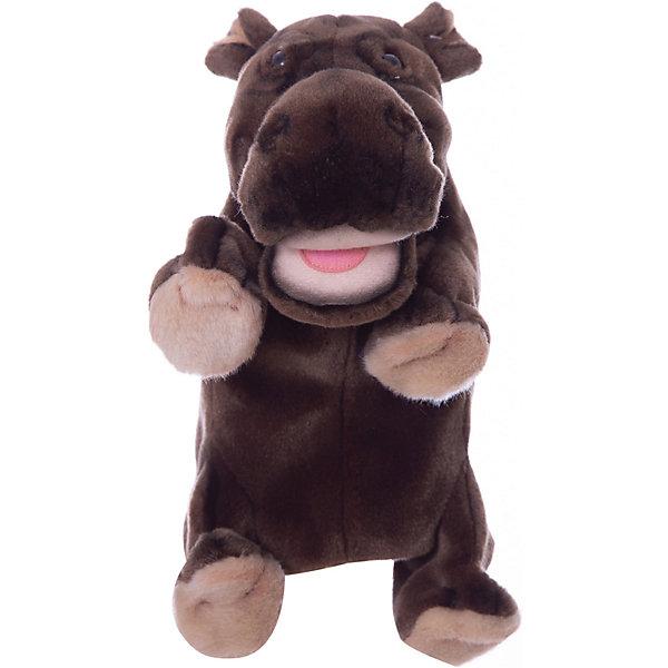 где купить Hansa Мягкая игрушка на руку Hansa Гиппопотам, 24 см по лучшей цене