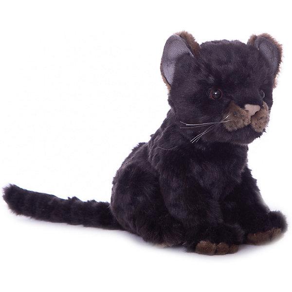 Мягкая игрушка Hansa Детеныш ягуара черный, 17 смМягкие игрушки животные<br>Характеристики:<br><br>• тип игрушки: ягуар;<br>• возраст: от 3 лет;<br>• материал: искусственный мех, полиэфир, текстиль, пластик;<br>• цвет: черный;<br>• высота игрушки: 17 см;<br>• вес: 155 гр;<br>• размер: 15х11х17см;<br>• страна бренда: Филиппины;<br>• бренд: Hansa.<br><br>Игрушка Hansa Детеныш ягуара черный, 17 см обязательно понравится всем любителям животных и ценителей дикой природы. Ведь любоваться грациозным существом можно не выходя из дома и для этого не нужно никуда ехать. Ягуар выглядит очень натуралистично, имеет смольно-черную расцветку и сияющие приветливые глаза.<br><br>Игрушка сильно напоминает настоящее животное, шерстка детеныша на ощупь такая же мягкая и пушистая, даже усики имеются. К тому же, ягуар может принимать различные позы, сидеть и стоять, держать приподнятой лапу и поворачивать голову благодаря металлическому проволочному каркасу, расположенному внутри. С данной игрушкой получится отличная фотосессия, которая позволит запечатлеть самые интересные кадры, а также детеныш ягуара может стать великолепным украшением интерьера.<br><br>Игрушку Hansa Детеныш ягуара черный, 17 см можно купить в нашем интернет-магазине.