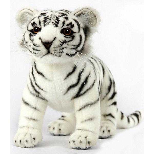 Мягкая игрушка Hansa Тигренок белый стоящий, 33 смДикие животные и птицы<br>Характеристики:<br><br>• тип игрушки: леопард;<br>• возраст: от 3 лет;<br>• материал: искусственный мех, наполнитель, металл, пластик;<br>• цвет: белый, черный;<br>• высота игрушки: 33 см;<br>• вес: 260 гр;<br>• размер: 33х14х21 см;<br>• страна бренда: Филиппины;<br>• бренд: Hansa.<br><br>Игрушка Hansa Тигренок белый стоящий, 33 см  обязательно понравится вашему ребенку. Популярные во всем мире игрушки Hansa максимально точно копируют оригинал и могут быть выполнены в натуральную величину. Искусственный мех проходит специальную обработку для придания схожести с мехом конкретного вида животного. <br><br>Игрушки шьются и набиваются вручную, снабжены проволочным каркасом для достижения максимально реалистичного образа. <br><br>Игрушку Hansa Тигренок белый стоящий, 33 см можно купить в нашем интернет-магазине.