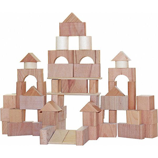 Краснокамская игрушка Конструктор Краснокамская игрушка Строим сами неокрашенный, 66 деталей краснокамская игрушка краснокамская игрушка конструктор строим сами неокрашенный