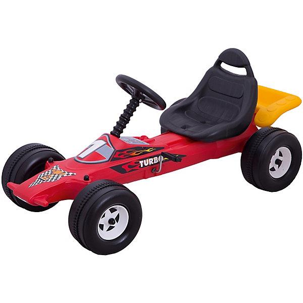 Педальная каталка Dohany Авто гоночная, краснаяКаталки для малышей<br>Характеристики:<br><br>• тип игрушки: каталка;<br>• возраст: от 3 лет;<br>• материал: пластик;<br>• вес: 6  кг;<br>• размер: 115х56х49 см;<br>• страна бренда: Венгрия;<br>• бренд: Dohany.<br><br>Авто гоночная на педалях Dohany станет одной из самых любимых игрушек вашего ребёнка. В автомобиле есть руль для поворотов вправо и влево, каталка оснащена парой простых педалей, которые приводят в движение колеса. Малыш почувствует настоящий драйв и восторг от управления машинкой, а легкость движения подарит незабываемое впечатление энергичным детям. <br><br>Каталку можно использовать как дома, так и на улице. Выполнена  из высококачественного, экологически безопасного пластика, соответствующего всем стандартам, санитарным требованиям и нормам, предъявляемым к продукции детского назначения.<br><br>Авто гоночная на педалях Dohany можно купить в нашем интернет-магазине.<br>Ширина мм: 115; Глубина мм: 560; Высота мм: 490; Вес г: 5960; Цвет: разноцветный; Возраст от месяцев: 36; Возраст до месяцев: 2147483647; Пол: Мужской; Возраст: Детский; SKU: 7933639;