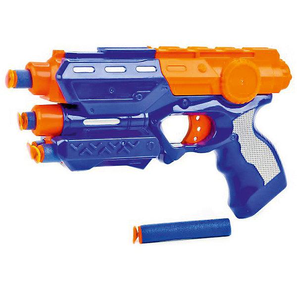 Бластер Играем вместе с мягкими патронами.Игрушечные пистолеты и бластеры<br>Характеристики товара:<br><br>• возраст: от 3 лет;<br>• материал: пластик;<br>• в комплекте: бластер, патроны;<br>• размер упаковки: 25х20х5 см;<br>• вес упаковки: 290 гр.<br><br>Бластер Играем вместе с патронами позволит детям устроить захватывающие космические бои. Бластер оснащен удобной рукояткой и отделением для патронов. Стоит только нажать на курок, и патрон полетит прямо в цель. Патроны могут пролетать на расстояние до 10 метров. Они выполнены в ярких расцветках, поэтому их легко найти на земле или в траве. Выполнены патроны из мягкого материала и не нанесут травм во время игры.<br><br>Бластер Играем вместе с патронами можно приобрести в нашем интернет-магазине.<br>Ширина мм: 250; Глубина мм: 50; Высота мм: 200; Вес г: 290; Возраст от месяцев: 36; Возраст до месяцев: 120; Пол: Мужской; Возраст: Детский; SKU: 7934548;