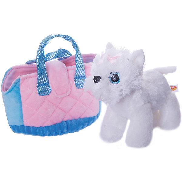 Купить Мягкая игрушка Играем вместе My friends Собачка в сумке, белая, 17см, Китай, белый, Женский
