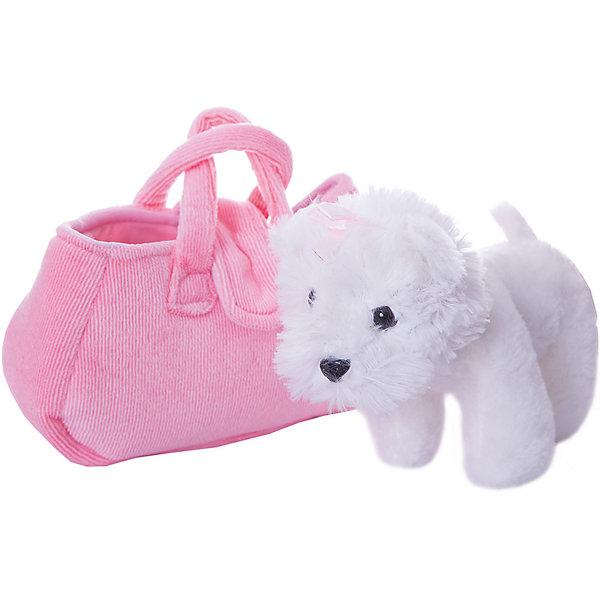 Играем вместе Мягкая игрушка My friends Собачка в сумке, белая, 19см