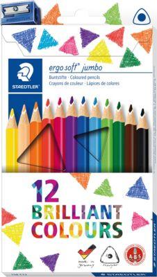Набор цветных карандашей Staedtler «Ergosoft Jumbo», 12 цветов + точилка, артикул:7935241 - Рисование и раскрашивание