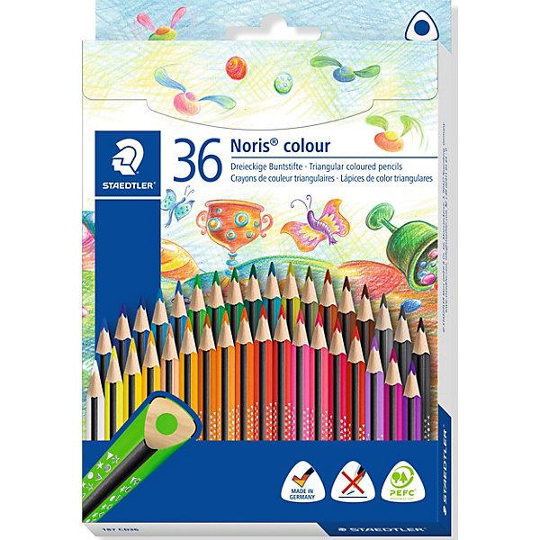 Staedtler Набор цветных карандашей Staedtler «Noris Colour», 36 цветов карандаши bruno visconti набор карандашей цветных disney белоснежка 6 цветов