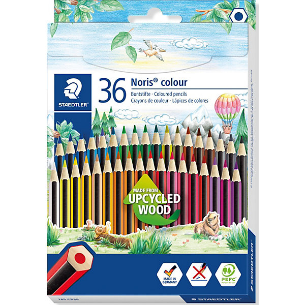 Staedtler Набор цветных карандашей Staedtler «Noris Colour», 36 цветов staedtler карандаши цветные ergosoft 36 цветов staedtler