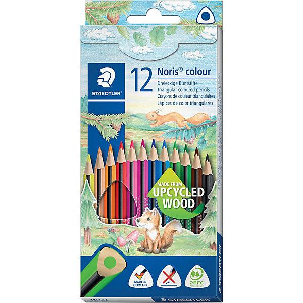 Staedtler Набор цветных карандашей Staedtler«Noris Colour», 12 цветов набор цветных карандашей la paloma 12 цветов