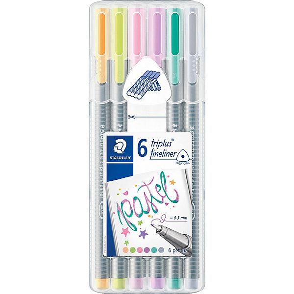 Staedtler Набор капиллярных ручек «Triplus Fineliner», 6 пастельных цветов