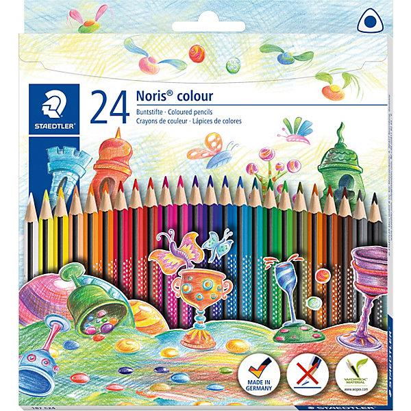 Staedtler Набор цветных карандашей «Noris Colour», 24 цвета