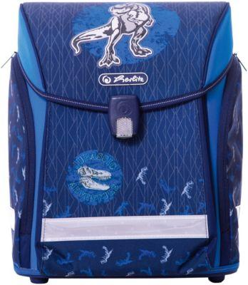 Ранец Herlitz  Midi New  Blue Dino, без наполнения, артикул:7936475 - Школьные рюкзаки и ранцы