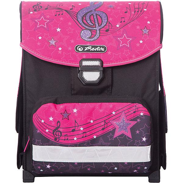 Купить Ранец Herlitz Smart Melody Clef, без наполнения, Германия, розовый/розовый, Женский
