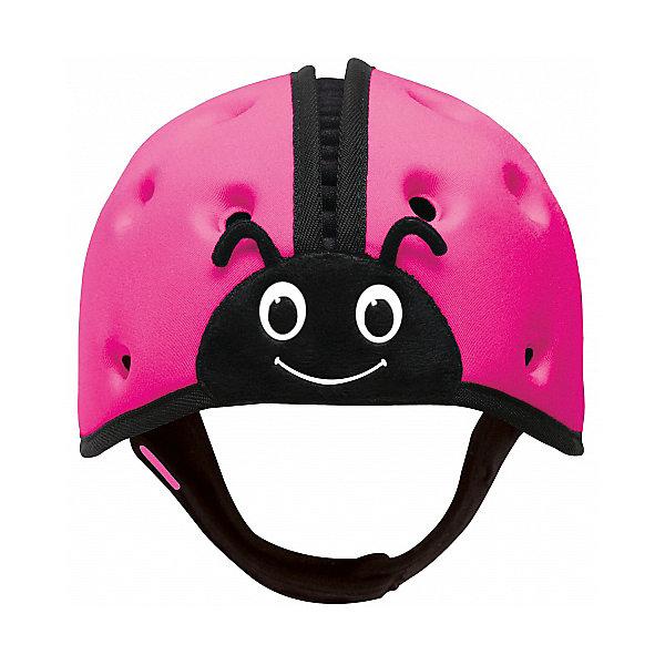 Мягкая шапка-шлем для защиты головы SafeheadBABY Божья коровка,розовыйЗащита малыша<br>Характеристики:<br><br>• возраст: от 7 месяцев до 2 лет<br>• обхват головы: 40 – 52 см.<br>• вес: менее 100 гр.<br>• особенности: ударопрочный; хорошо пропускает воздух; никакого давления на растущую голову и развивающиеся мышцы шеи.<br>• материал: внутренняя поверхность: хлопок, наружный слой: нейлон, спандекс, пена высокой плотности с закрытыми ячейками<br>• уход: только ручная стирка в слабом мыльном растворе, сушка в закрытом помещении<br>• не предназначен для использования во время занятий спортом, включая езду на велосипеде, катание на лыжах или на доске.<br><br>Запатентованный получивший награды мягкий головной убор предназначен детей, которые учатся ходить. Шапка-шлем защитит голову малыша при падении с высоты своего роста, от ударов при вставании и неуверенной ходьбе. С ним вам не нужно ходить по пятам за неустойчиво стоящим малышом, что даёт родителям душевное спокойствие, а ребенку свободу движений, которая ему так необходима.<br><br>Шлем очень легкий, поэтому нет лишней нагрузки на голову и шею. Размер регулируется. Удобный регулируемый ремешок можно быстро расстегнуть. Специально разработанная конструкция и отверстия по всей поверхности обеспечивают хорошую пропускаемость воздуха, что не дает голове малыша перегреться. Комфорт и оптимальная температура внутри шлема снижают шансы того, что ребенок захочет его снять.<br><br>Мягкая шапка-шлем для защиты головы SafeheadBABY «Божья коровка» - это идеальное решение для активных малышей, как в помещении, так и на улице.<br><br>Мягкую шапку-шлем для защиты головы SafeheadBABY Божья коровка, розовую можно купить в нашем интернет-магазине.<br>Ширина мм: 200; Глубина мм: 170; Высота мм: 140; Вес г: 120; Цвет: розовый; Возраст от месяцев: 7; Возраст до месяцев: 24; Пол: Унисекс; Возраст: Детский; SKU: 7941345;