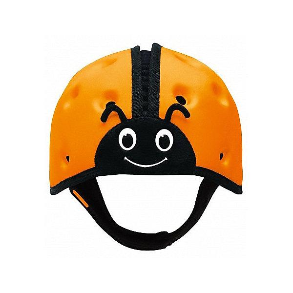 Мягкая шапка-шлем для защиты головы SafeheadBABY Божья коровка, оранжеваяЗащита малыша<br>Характеристики:<br><br>• возраст: от 7 месяцев до 2 лет<br>• обхват головы: 40 – 52 см.<br>• вес: менее 100 гр.<br>• особенности: ударопрочный; хорошо пропускает воздух; никакого давления на растущую голову и развивающиеся мышцы шеи.<br>• материал: внутренняя поверхность: хлопок, наружный слой: нейлон, спандекс, пена высокой плотности с закрытыми ячейками<br>• уход: только ручная стирка в слабом мыльном растворе, сушка в закрытом помещении<br>• не предназначен для использования во время занятий спортом, включая езду на велосипеде, катание на лыжах или на доске.<br><br>Запатентованный получивший награды мягкий головной убор предназначен детей, которые учатся ходить. Шапка-шлем защитит голову малыша при падении с высоты своего роста, от ударов при вставании и неуверенной ходьбе. С ним вам не нужно ходить по пятам за неустойчиво стоящим малышом, что даёт родителям душевное спокойствие, а ребенку свободу движений, которая ему так необходима.<br><br>Шлем очень легкий, поэтому нет лишней нагрузки на голову и шею. Размер регулируется. Удобный регулируемый ремешок можно быстро расстегнуть. Специально разработанная конструкция и отверстия по всей поверхности обеспечивают хорошую пропускаемость воздуха, что не дает голове малыша перегреться. Комфорт и оптимальная температура внутри шлема снижают шансы того, что ребенок захочет его снять.<br><br>Мягкая шапка-шлем для защиты головы SafeheadBABY «Божья коровка» - это идеальное решение для активных малышей, как в помещении, так и на улице.<br><br>Мягкую шапку-шлем для защиты головы SafeheadBABY Божья коровка, оранжевую можно купить в нашем интернет-магазине.<br>Ширина мм: 200; Глубина мм: 170; Высота мм: 140; Вес г: 120; Цвет: оранжевый; Возраст от месяцев: 7; Возраст до месяцев: 24; Пол: Унисекс; Возраст: Детский; SKU: 7941359;