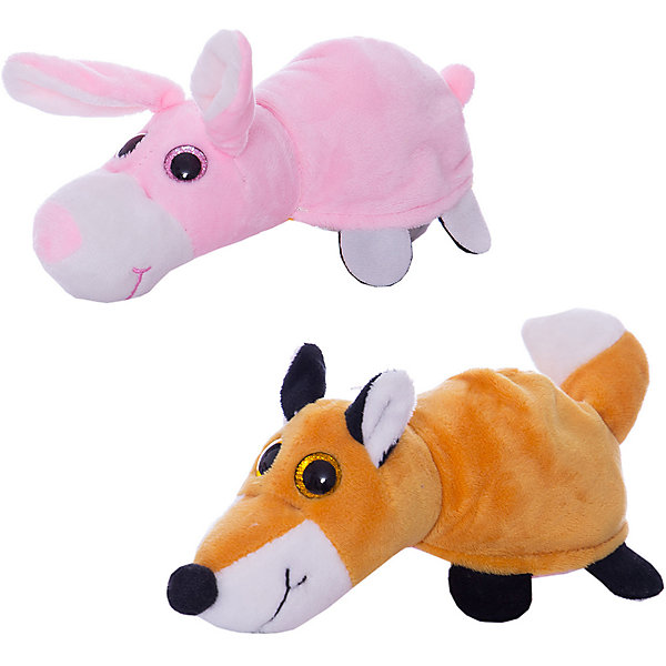 TEDDY Мягкая игрушка  Перевертыши Лиса-Заяц, 16 см