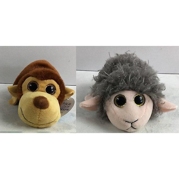 TEDDY Мягкая игрушка Teddy Перевертыши Обезьяна-Овца, 16 см игрушка мягкая teddy toys обезьяна новогодняя музыкальная 20см в ассортименте т16325