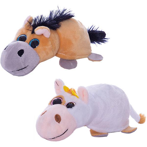 "TEDDY Мягкая игрушка Teddy ""Перевертыши"" Лошадка-Корова, 16 см"