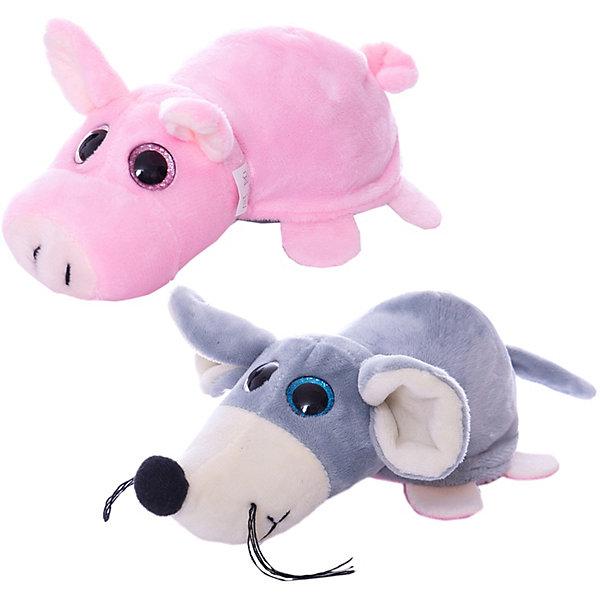 TEDDY Мягкая игрушка Teddy Перевертыши Поросёнок-Мышка, 16 см