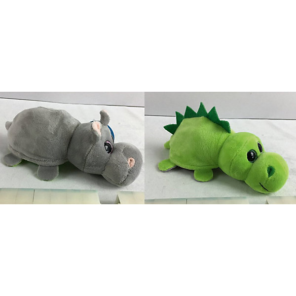 """TEDDY Мягкая игрушка Teddy """"Перевертыши"""" Бегемот-Динозавр, 16 см"""