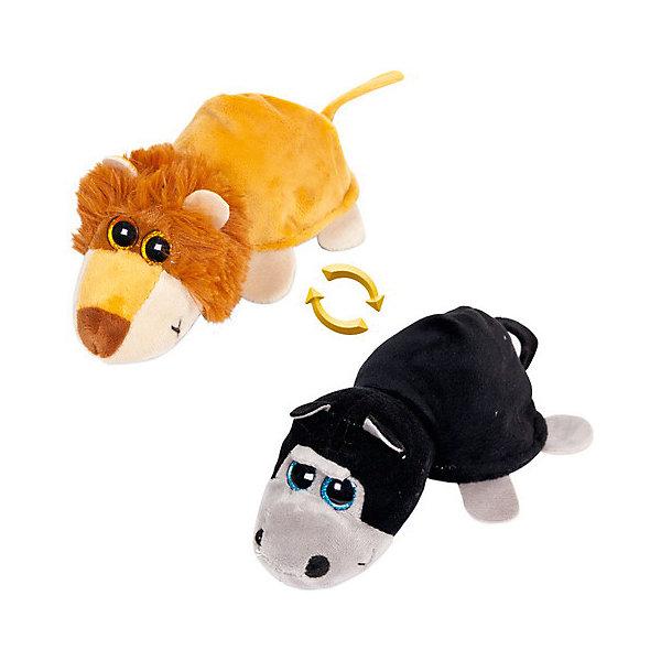 TEDDY Мягкая игрушка Teddy Перевертыши Лев-Обезьяна, 16 см игрушка мягкая teddy toys обезьяна новогодняя музыкальная 20см в ассортименте т16325