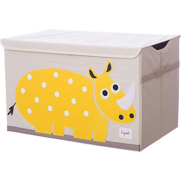 цена 3 Sprouts Сундук для хранения игрушек 3 Sprouts Жёлтый носорог