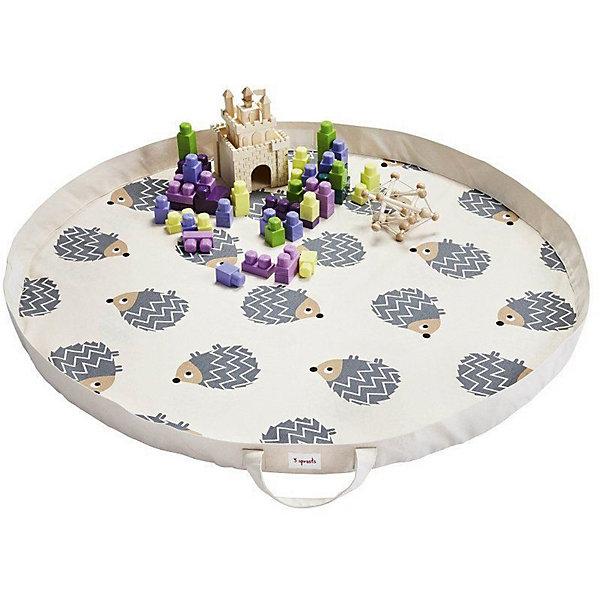 Игровой коврик-сумка 3 Sprouts Серый ёжик (Gray Hedgehog SPR1302). Арт. 00050Детские ковры<br>Характеристики:<br><br>• возраст: от 3 месяцев;<br>• материал: 100% хлопок;<br>• диаметр в разложенном виде: 112 см;<br>• вес упаковки: 750 гр.;<br>• размер упаковки: 37х30х5 см;<br>• страна бренда: Канада.<br><br>Коврик-сумка 3 Sprouts «Серый ёжик» – простое и надежное решение для хранения игрушек и организации игровой зоны. Плотная хлопковая сумка легко трансформируется в круглый коврик с красочными принтами на поверхности.<br><br>Широкий бортик не даст мелким элементам игрушек потеряться. Когда игры закончатся, коврик легко собирается в сумку, которую можно хранить дома или взять с собой в гости.<br><br>Изделие выполнено из полностью безопасных и гипоаллергенных материалов, устойчиво к механическому воздействию. Внутреннюю часть коврика можно протирать антисептическими салфетками.<br><br>Игровой коврик-сумку 3 Sprouts «Серый ёжик» можно купить в нашем интернет-магазине.<br>Ширина мм: 37; Глубина мм: 30; Высота мм: 5; Вес г: 750; Цвет: серый; Возраст от месяцев: 3; Возраст до месяцев: 144; Пол: Унисекс; Возраст: Детский; SKU: 7943077;