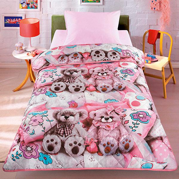 Фотография товара покрывало-одеяло Тэдди, розовый 140*200, стеганное, Letto (7949242)
