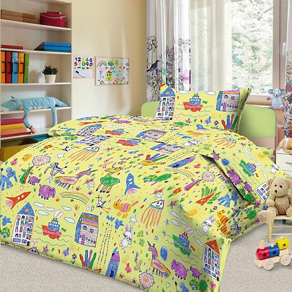 Фотография товара детское постельное белье 1,5 сп. Letto, Каляка, желтый (7949260)