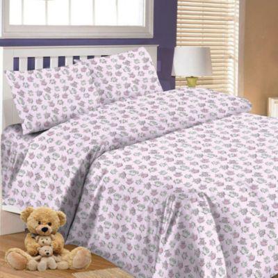 Детское постельное белье 3 предмета Letto, простыня на резинке, BGR-66, артикул:7949266 - Детский текстиль