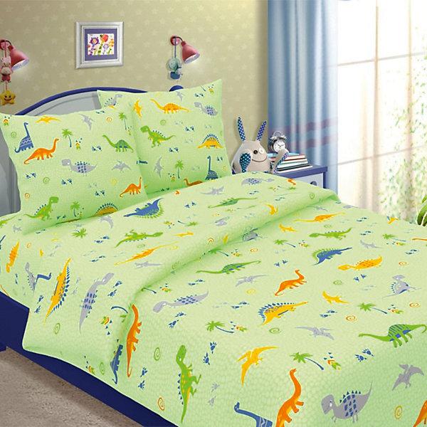 Детское постельное белье 1,5 сп. Letto, Динно,зеленыйДетское постельное бельё<br>Характеристики:<br><br>• в комплекте: простыня, пододеяльник, наволочка;<br>• размер комплекта: полутораспальный;<br>• тип ткани: бязь (100% хлопок);<br>• цвет: зеленый;<br>• рисунок: печатный принт;<br>• уход за вещами: бережная стирка при 30 градусах;<br>• размер пододеяльника: 143 х 215 см.;<br>• размер наволочки: 50 х 70 см.;<br>• размер простыни: 150 х 220 см.;<br>• размер упаковки: 37 х 5 х 30 см.;<br>• вес: 1,5 кг.;<br>• бренд, страна: Letto, Россия.<br><br>Красивое и качественное постельное белье от торговой марки Letto подарит ребенку приятные сны и комфортный отдых. Комплект состоит из простыни, наволочки и пододеяльника, изготовленных из хлопка. Все комплекты снабжены потайной молнией на пододеяльнике, что делает ее их еще более практичными в использовании. <br><br>Яркий комплект постельного белья в хлопковом исполнении и с хорошими устойчивыми красителями - по очень доступной цене! Эта модель произведена из традиционной российский бязи, плотного плетения. Такое белье прослужит долго и выдержит много стирок.<br><br>Выполнен в зеленых тонах с изображением веселых динозавриков, такой комплект отлично подойдет в качестве оригинального подарка вашему ребенку.<br><br>Детское постельное белье 1,5 сп. Letto, Динно, голубой вы можете купить в нашем интернет-магазине.<br>Ширина мм: 300; Глубина мм: 370; Высота мм: 50; Вес г: 1500; Цвет: зеленый; Возраст от месяцев: 36; Возраст до месяцев: 144; Пол: Унисекс; Возраст: Детский; SKU: 7949268;