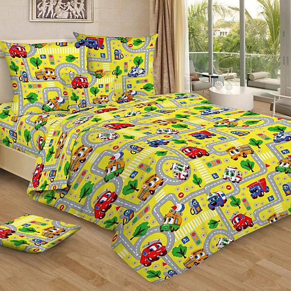 Фотография товара детское постельное белье 1,5 сп. Letto, Город, желтый (7949272)