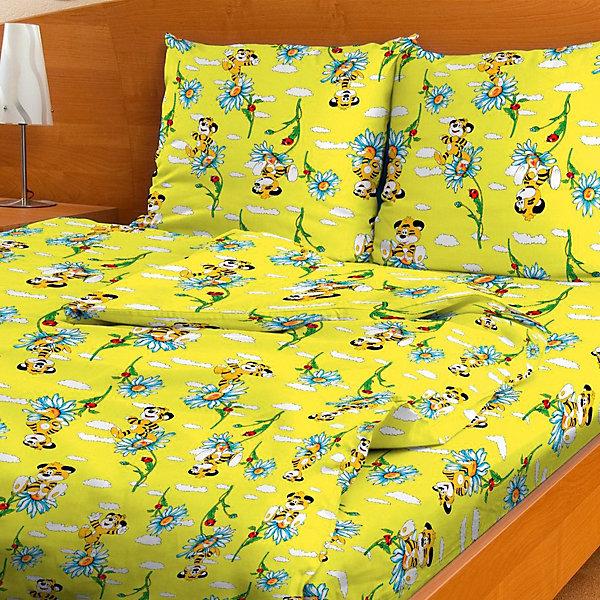 Фотография товара детское постельное белье 1,5 сп. Letto,Тигренок, желтый (7949280)