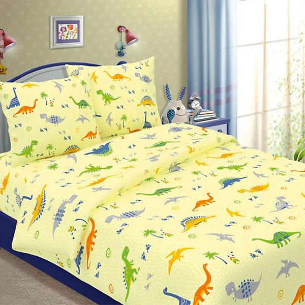 Фотография товара детское постельное белье 1,5 сп. Letto, Динно, желтый (7949288)