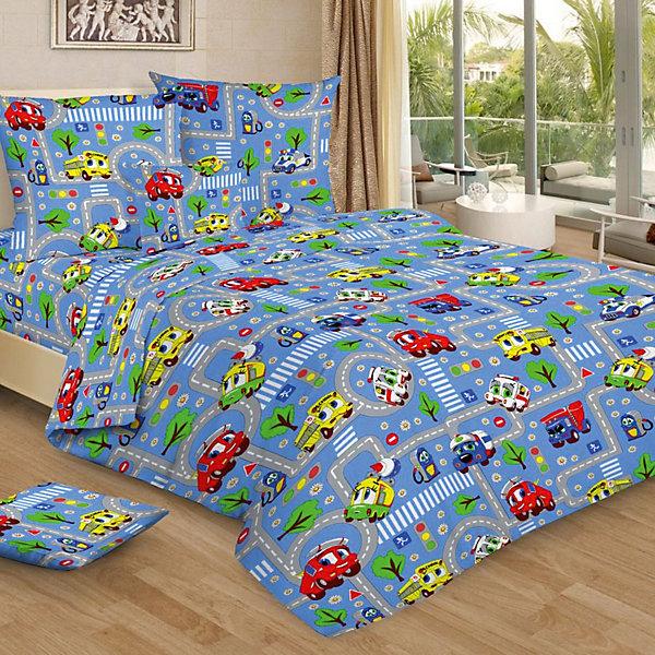 Фотография товара детское постельное белье 1,5 сп. Letto, Город, голубой (7949292)