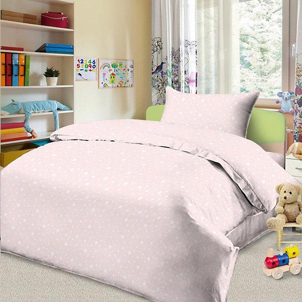 Фотография товара детское постельное белье 1,5 сп. Letto, Звездочка, розовый (7949304)