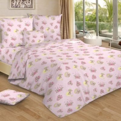 Детское постельное белье 1,5 сп. Letto,Мими, розовый, артикул:7949314 - Детский текстиль