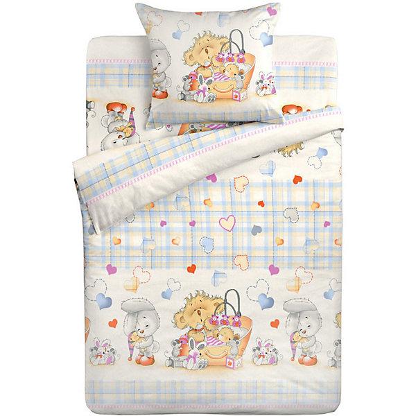Купить Детское постельное белье 3 предмета Letto, BG-71, Россия, синий, Унисекс