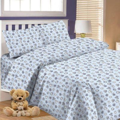 Детское постельное белье 3 предмета Letto, простыня на резинке, BGR-65, артикул:7949338 - Детский текстиль